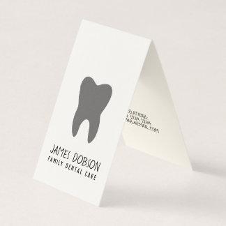 Tarjeta De Visita Cita molar linda contemporánea única del dentista
