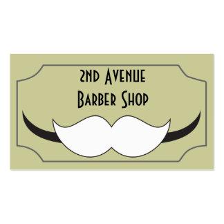 Tarjeta de visita clásica de la peluquería de caba