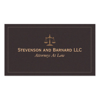 Tarjeta de visita clásica del abogado