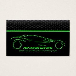 Tarjeta De Visita Coche auto en metálico - Línea Verde Sportscar