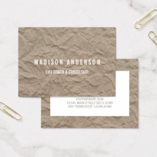 Tarjeta De Visita Coche minimalista de la vida moderna del papel el