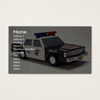 Tarjeta De Visita Coche policía blanco y negro