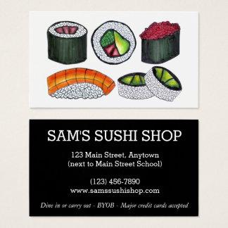 Tarjeta De Visita Cocinero japonés del restaurante de la comida de
