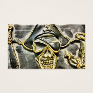 Tarjeta De Visita Cofre del tesoro alegre del pirata de Rogelio