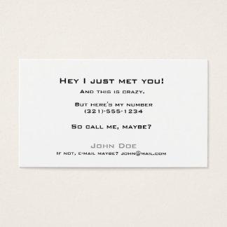 Tarjeta De Visita Coja la linecard-llamada yo