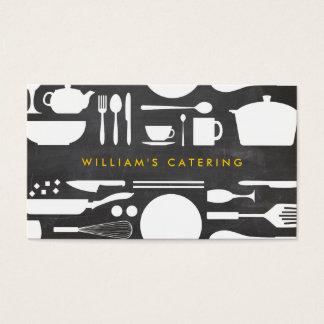 Tarjeta De Visita Collage de la cocina de Groupon en fondo de la