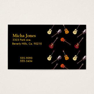 Tarjeta De Visita Collage de la guitarra acústica eléctrica y