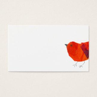 Tarjeta De Visita Collage rojo precioso animal mínimo y artístico