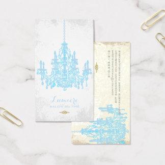 Tarjeta De Visita Color apacible del azul chandelier/DIY de