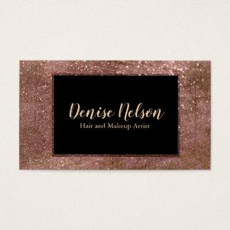 Tarjeta de visita color de rosa de moda del