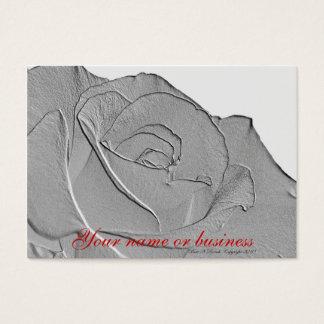Tarjeta de visita color de rosa de plata elegante