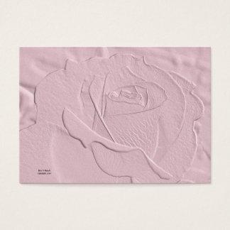 Tarjeta de visita color de rosa rosada suave