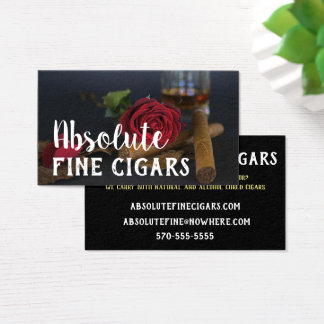 Tarjeta De Visita Color de rosa sofisticado, bebida y cigarro