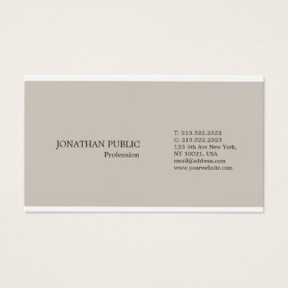 Tarjeta De Visita Color elegante moderno profesional de moda simple