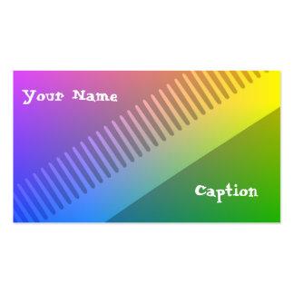 Tarjeta de visita colorida de la peluquería