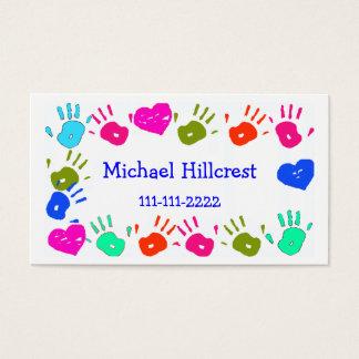 Tarjeta de visita colorida de los niños