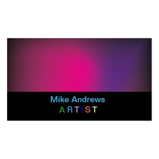 Tarjeta de visita colorida del Artista-Pintor
