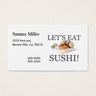 Tarjeta De Visita Comamos el sushi