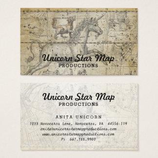 Tarjeta De Visita Comandante de Ursa de la constelación del mapa de
