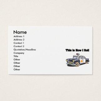 Tarjeta De Visita Cómo ruedo (el coche de la policía/del poli)