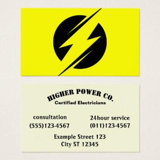 Tarjeta De Visita Compañía eléctrica - electricista - perno