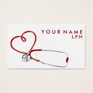 Tarjeta de visita compasiva de la enfermera