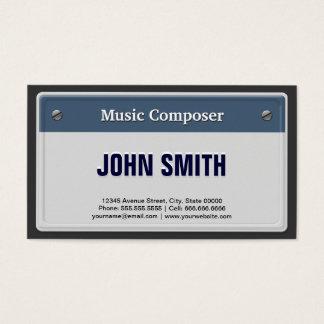 Tarjeta De Visita Compositor de la música - placa fresca del coche