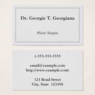 Tarjeta de visita con clase y mínima del cirujano