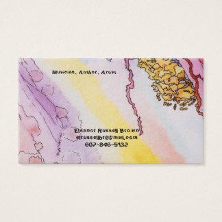 Tarjeta de visita con diseño abstracto
