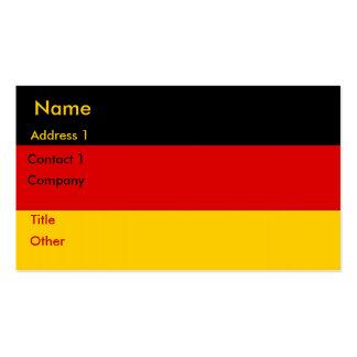 Tarjeta de visita con la bandera de Alemania