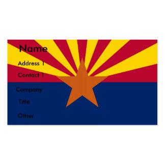 Tarjeta de visita con la bandera de Arizona, los