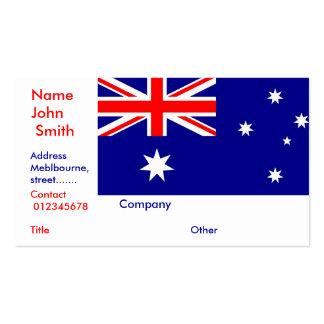 Tarjeta de visita con la bandera de Australia