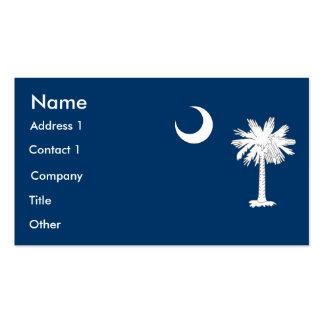 Tarjeta de visita con la bandera de Carolina del S
