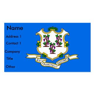 Tarjeta de visita con la bandera de Connecticut