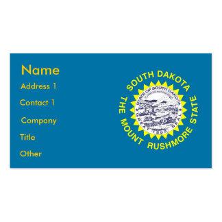 Tarjeta de visita con la bandera de Dakota del Sur