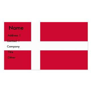 Tarjeta de visita con la bandera de Dinamarca