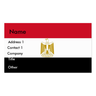Tarjeta de visita con la bandera de Egipto