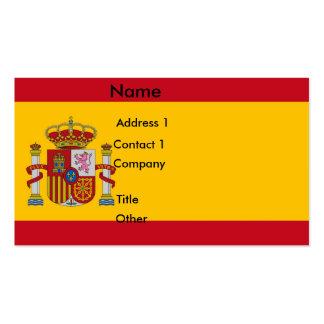 Tarjeta de visita con la bandera de España