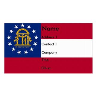 Tarjeta de visita con la bandera de Georgia los
