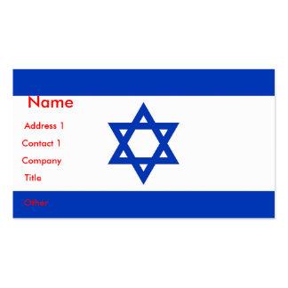 Tarjeta de visita con la bandera de Israel