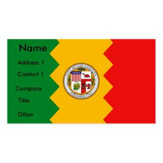 Tarjeta de visita con la bandera de Los Ángeles, C