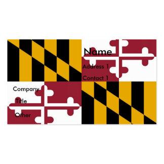 Tarjeta de visita con la bandera de Maryland los E
