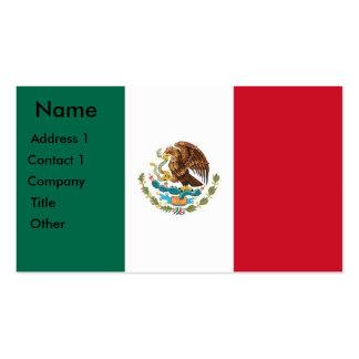 Tarjeta de visita con la bandera de México