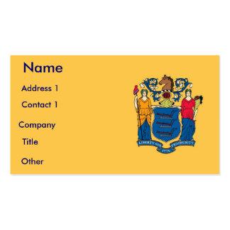 Tarjeta de visita con la bandera de New Jersey los