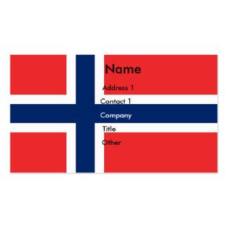 Tarjeta de visita con la bandera de Noruega