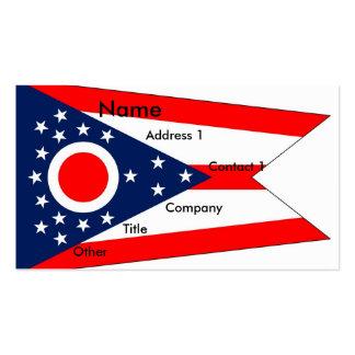 Tarjeta de visita con la bandera de Ohio los