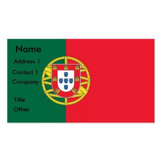 Tarjeta de visita con la bandera de Portugal