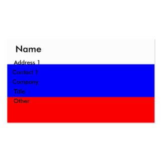 Tarjeta de visita con la bandera de Rusia