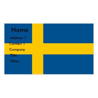 Tarjeta de visita con la bandera de Suecia