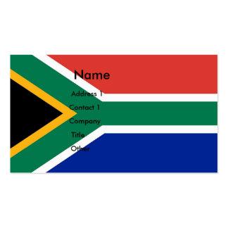 Tarjeta de visita con la bandera de Suráfrica
